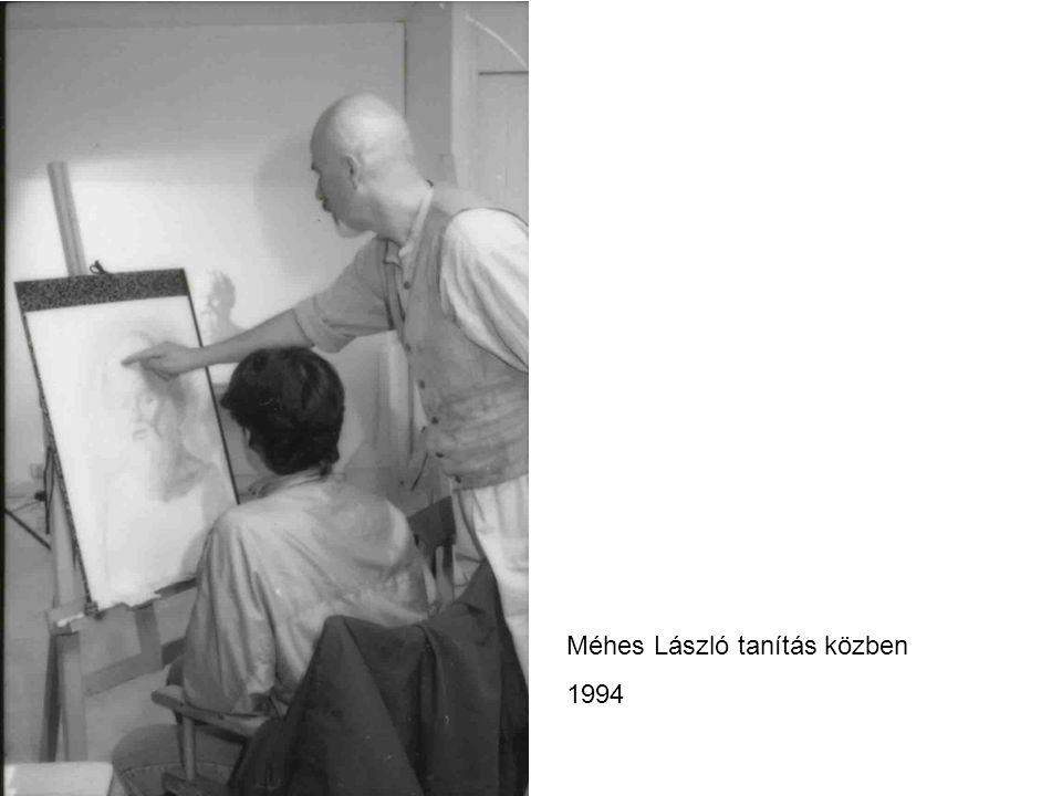Méhes László tanítás közben 1994