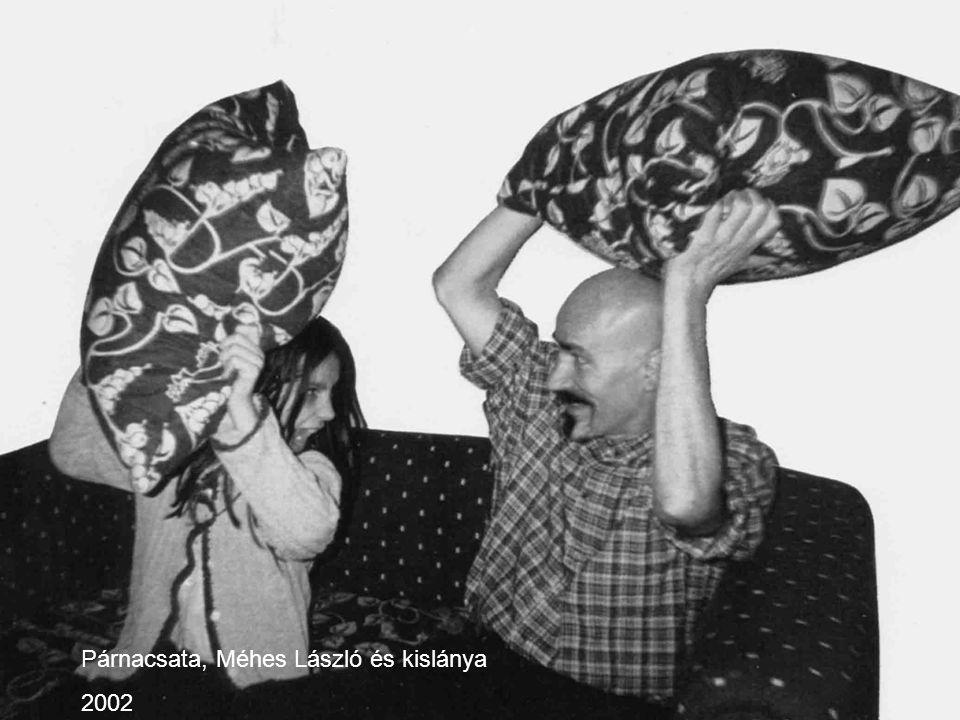 Párnacsata, Méhes László és kislánya 2002