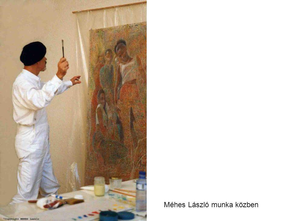 Méhes László munka közben