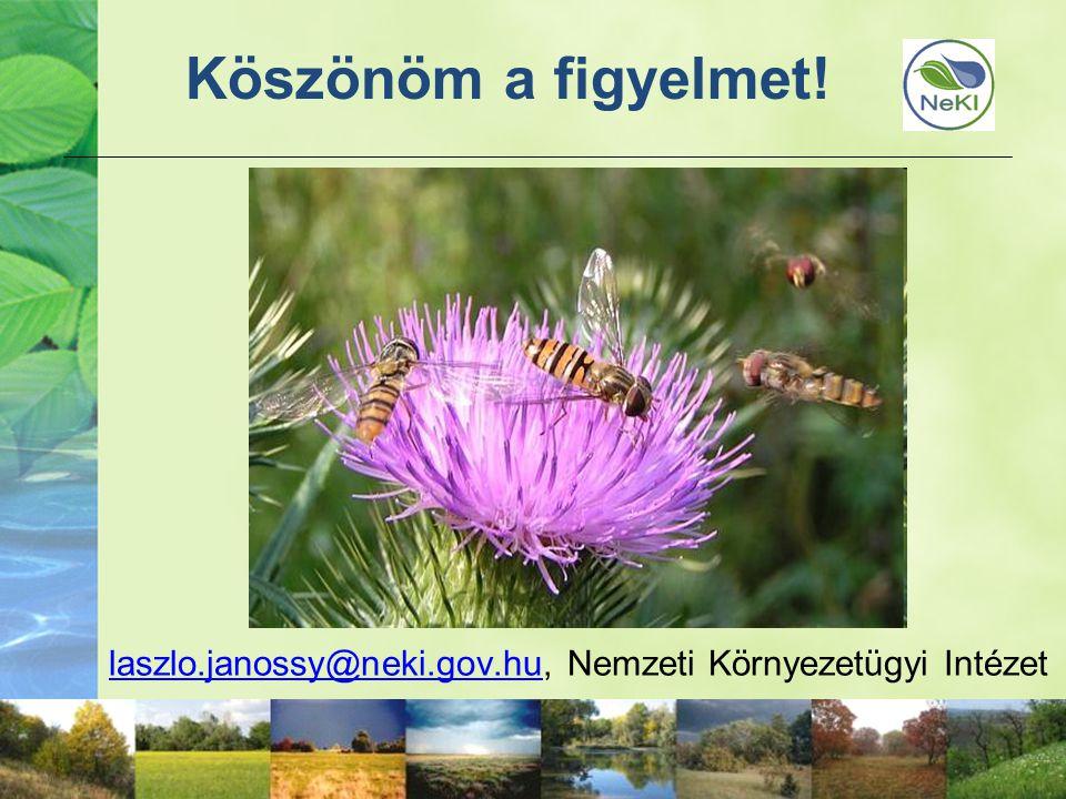 49 Köszönöm a figyelmet! laszlo.janossy@neki.gov.hulaszlo.janossy@neki.gov.hu, Nemzeti Környezetügyi Intézet