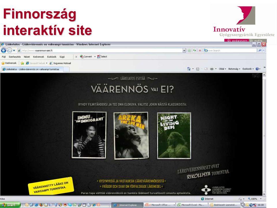 Finnország interaktív site
