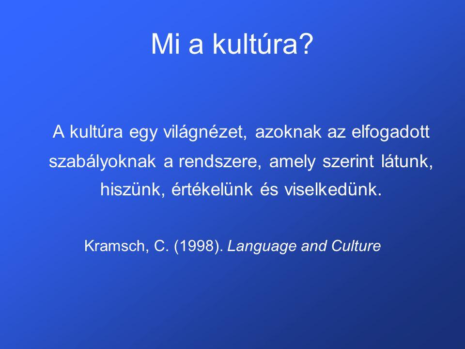 Mi a kultúra.