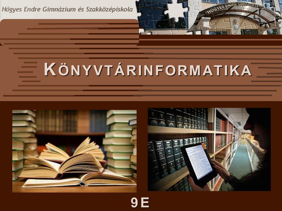  A könyvtári betűrendes katalógusban a katalóguscédulák a szerzők neve és a könyvek címe szerinti betűrendben találhatók.