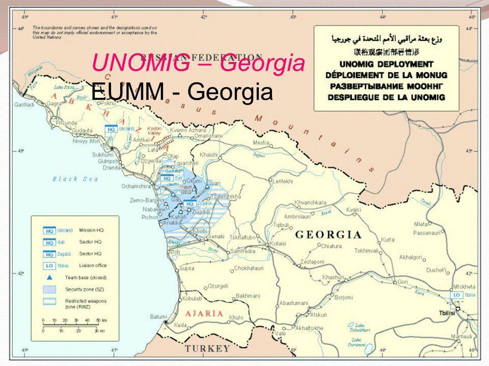 UNOMIG – Georgia EUMM - Georgia