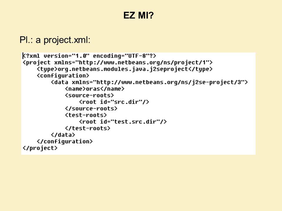 Pl.: a project.xml: EZ MI?