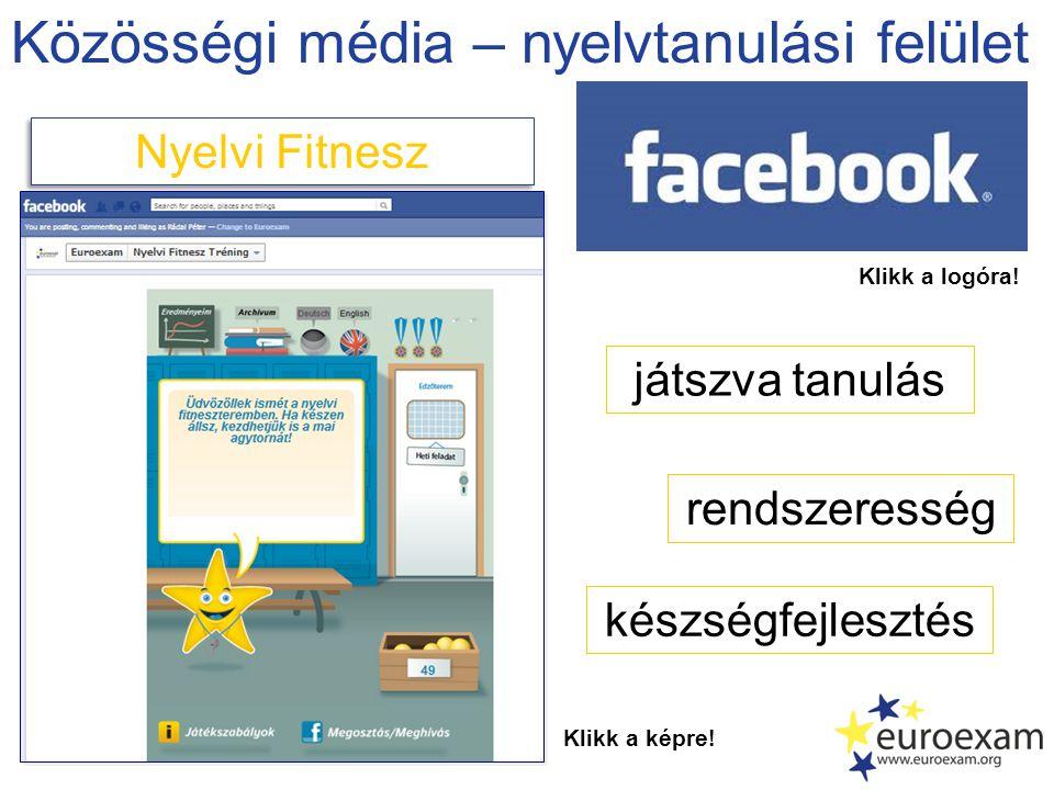Közösségi média – nyelvtanulási felület Nyelvi Fitnesz Klikk a képre.