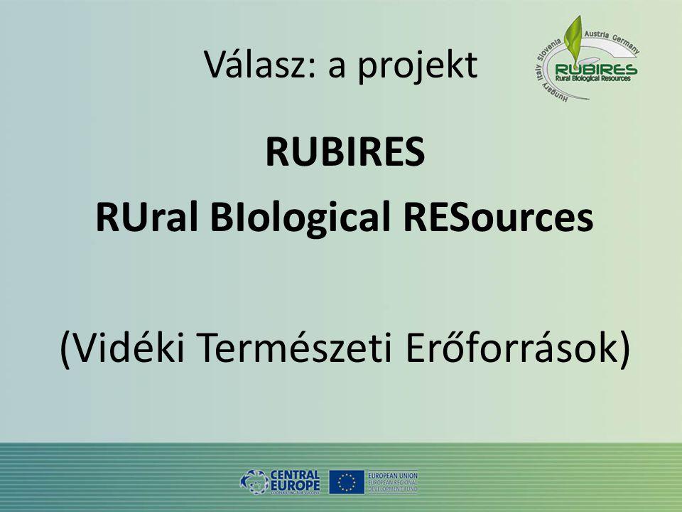 Válasz: a projekt RUBIRES RUral BIological RESources (Vidéki Természeti Erőforrások)