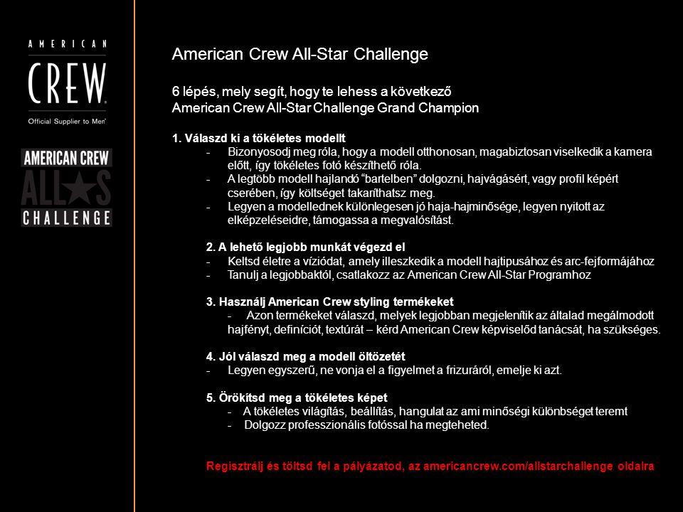 American Crew All-Star Challenge Részvételi követelmények