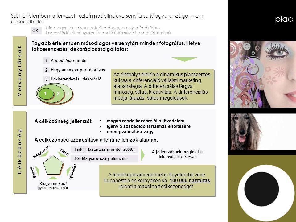 piac V e r s e n y t á r s a k C é l k ö z ö n s é g Szűk értelemben a tervezett üzleti modellnek versenytársa Magyarországon nem azonosítható.