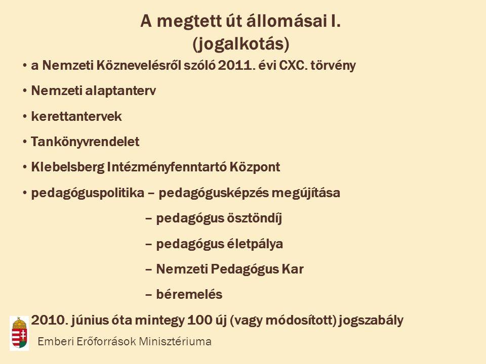 • a Nemzeti Köznevelésről szóló 2011.évi CXC.