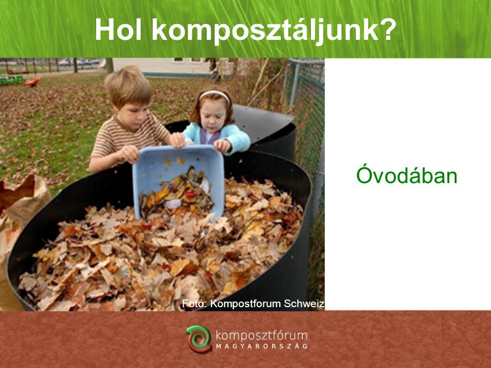 Hol komposztáljunk? Óvodában Fotó: Kompostforum Schweiz