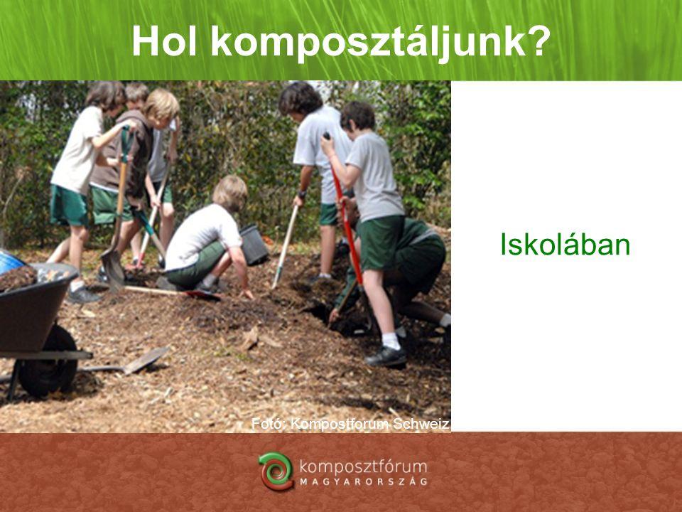 Hol komposztáljunk? Iskolában Fotó: Kompostforum Schweiz