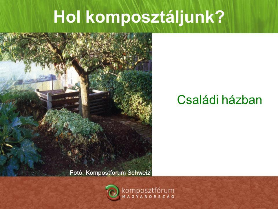 Hol komposztáljunk? Családi házban Fotó: Kompostforum Schweiz