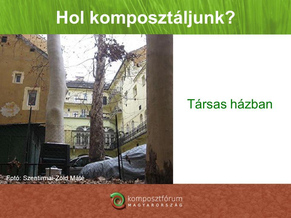 Hol komposztáljunk? Társas házban Fotó: Szentirmai-Zöld Máté