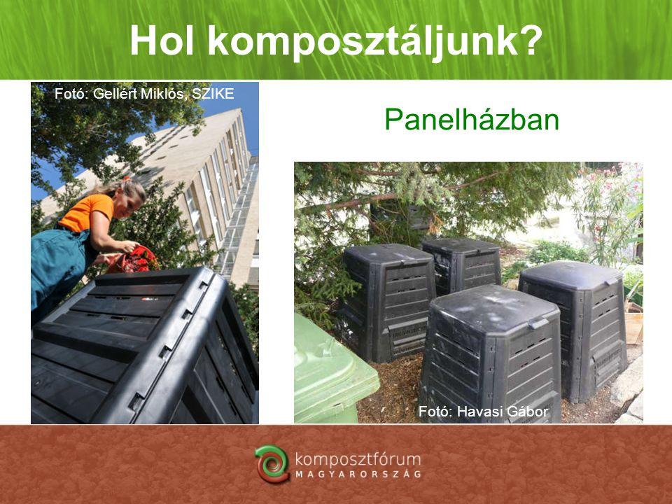 Hol komposztáljunk? Panelházban Fotó: Gellért Miklós, SZIKE Fotó: Havasi Gábor