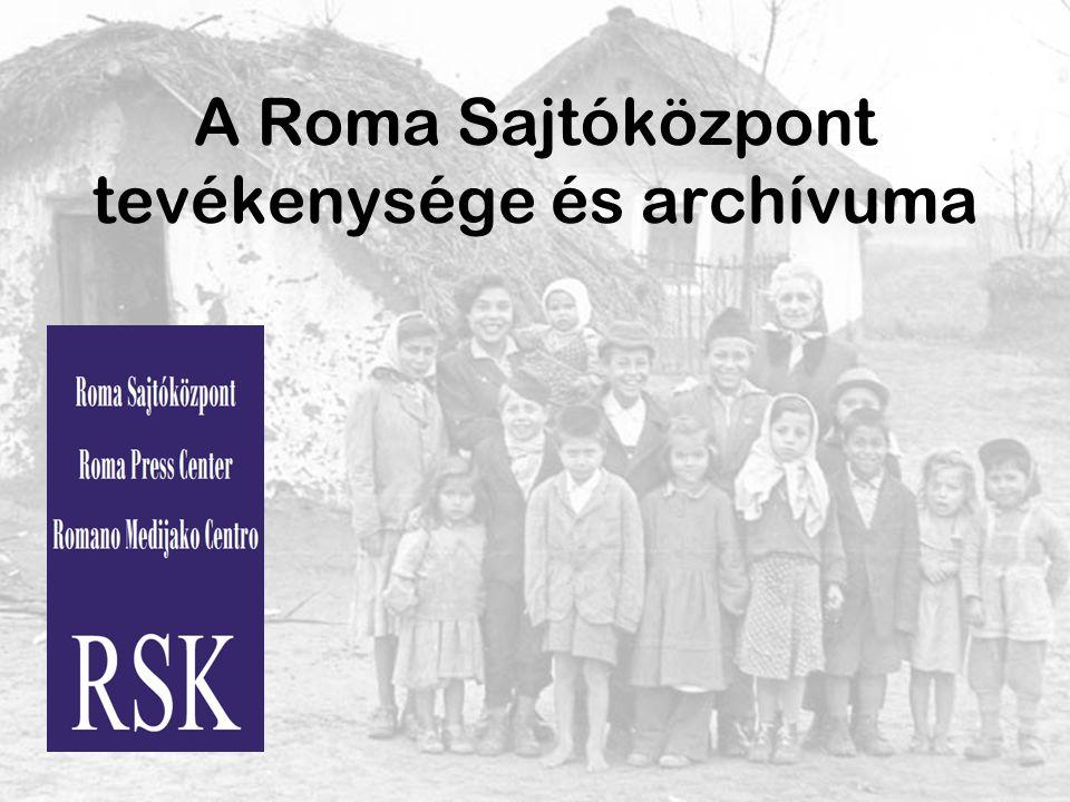 A Roma Sajtóközpont tevékenysége és archívuma