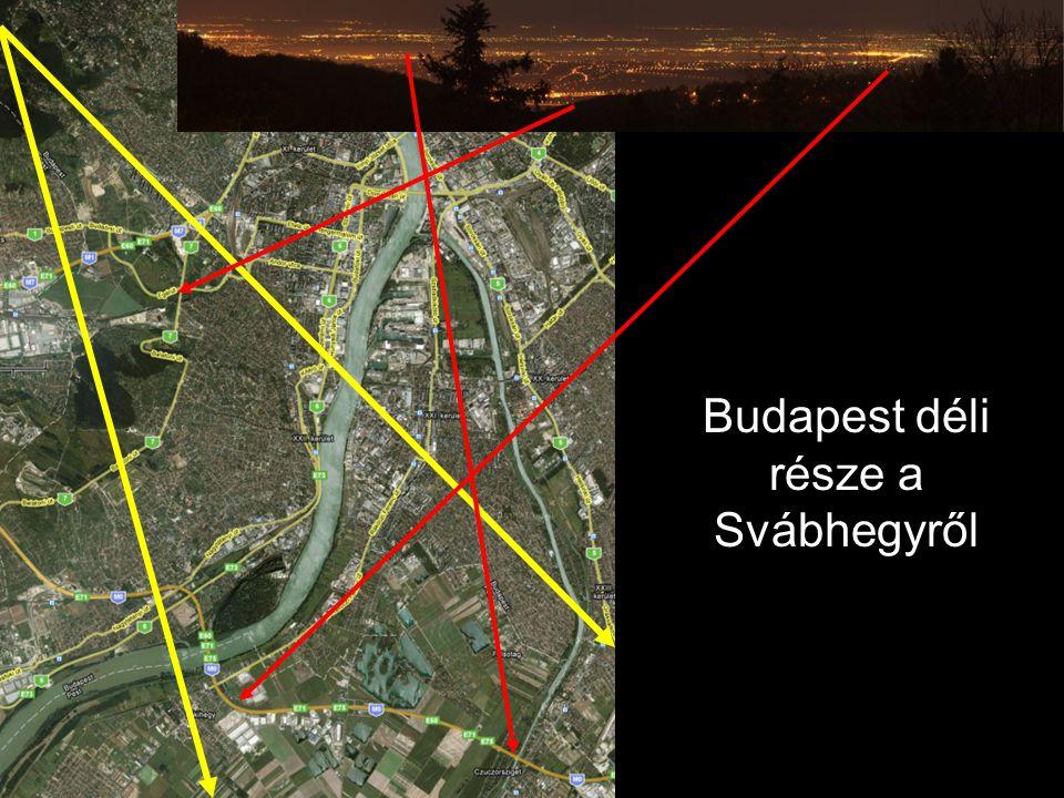 Budapest déli része a Svábhegyről