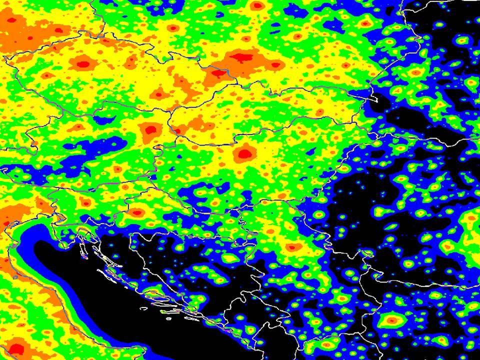 Tendencia: Európában eltűnhet a Tejút látványa 2025 2000 Forrás: Cinzano et al. 2001