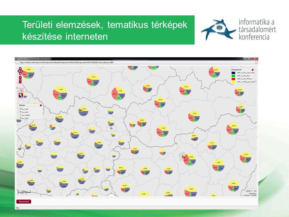 Területi elemzések, tematikus térképek készítése interneten