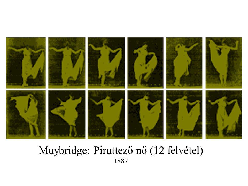 Muybridge: Piruttező nő (12 felvétel) 1887