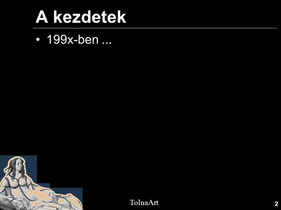 2 TolnaArt A kezdetek •199x-ben...