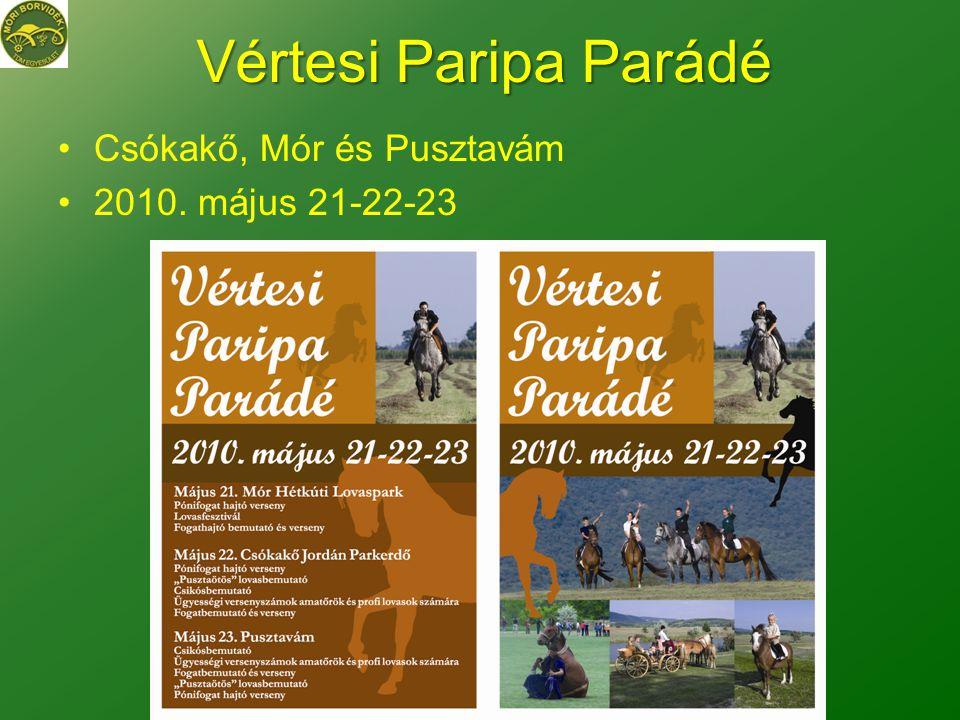 Vértesi Paripa Parádé •Csókakő, Mór és Pusztavám •2010. május 21-22-23