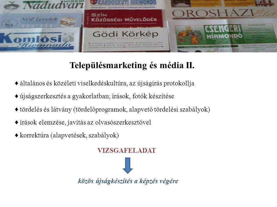 Településmarketing és média II.