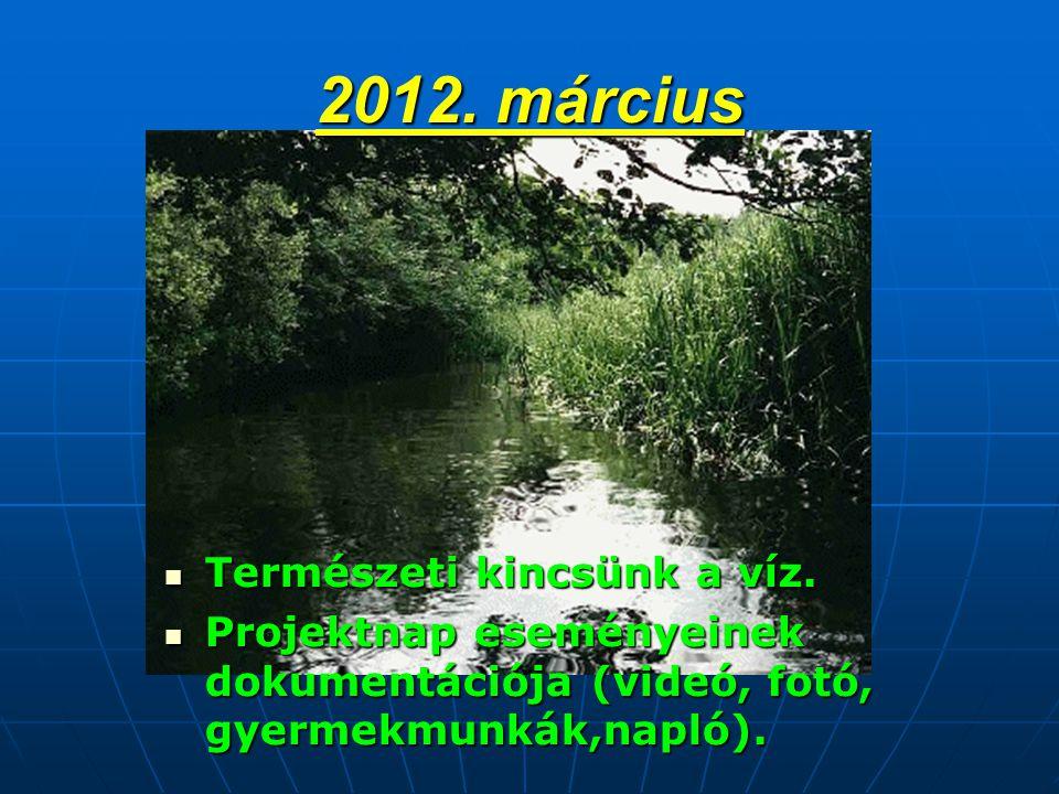 2012. március  Természeti kincsünk a víz.