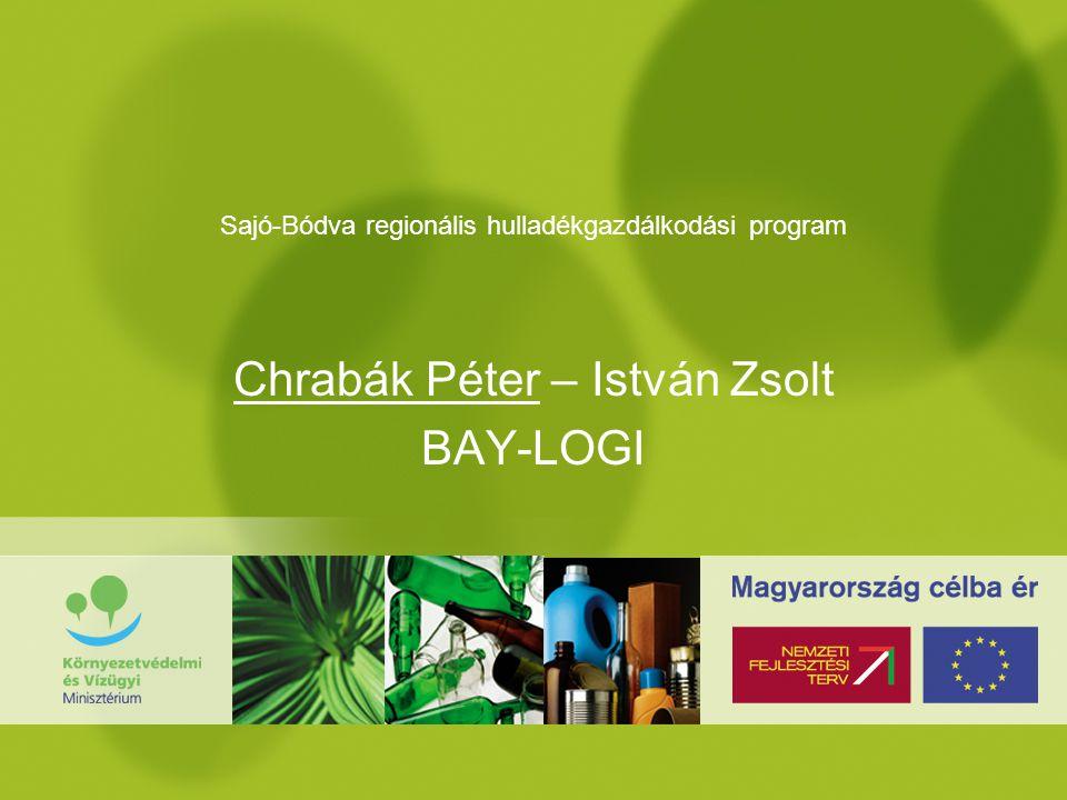 Keszthely, 2006.03.17 Sajó-Bódva regionális hulladékgazdálkodási program Chrabák Péter – István Zsolt BAY-LOGI