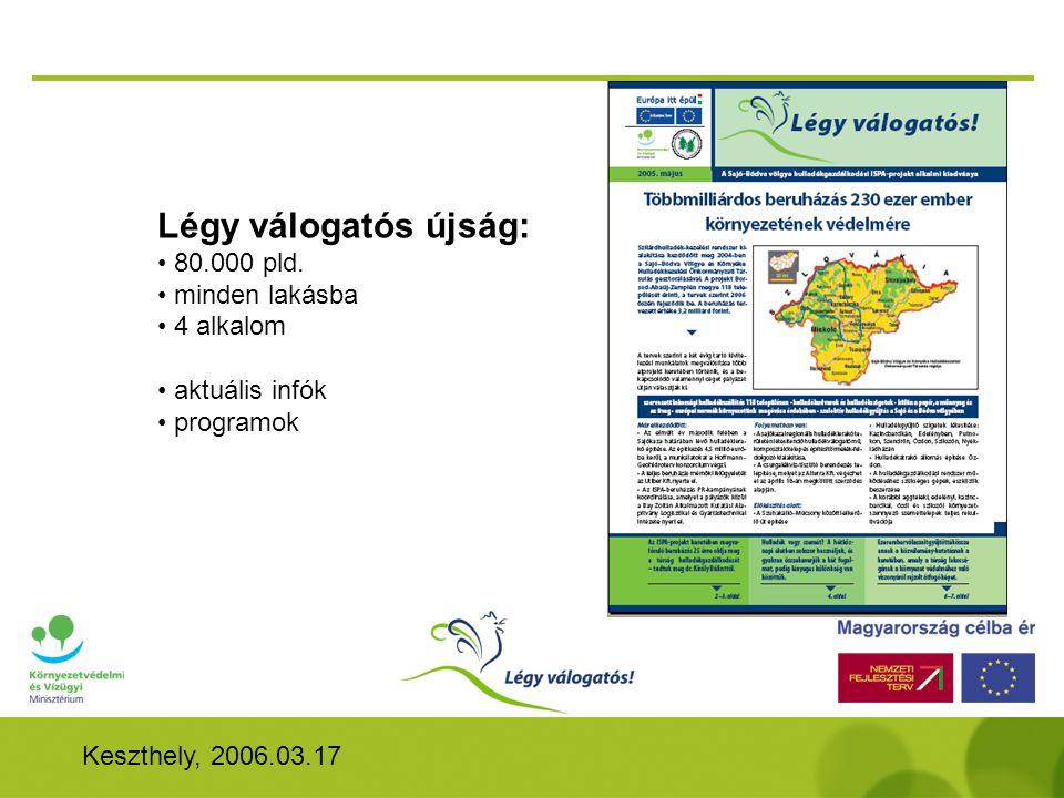 Keszthely, 2006.03.17 Légy válogatós újság: • 80.000 pld.