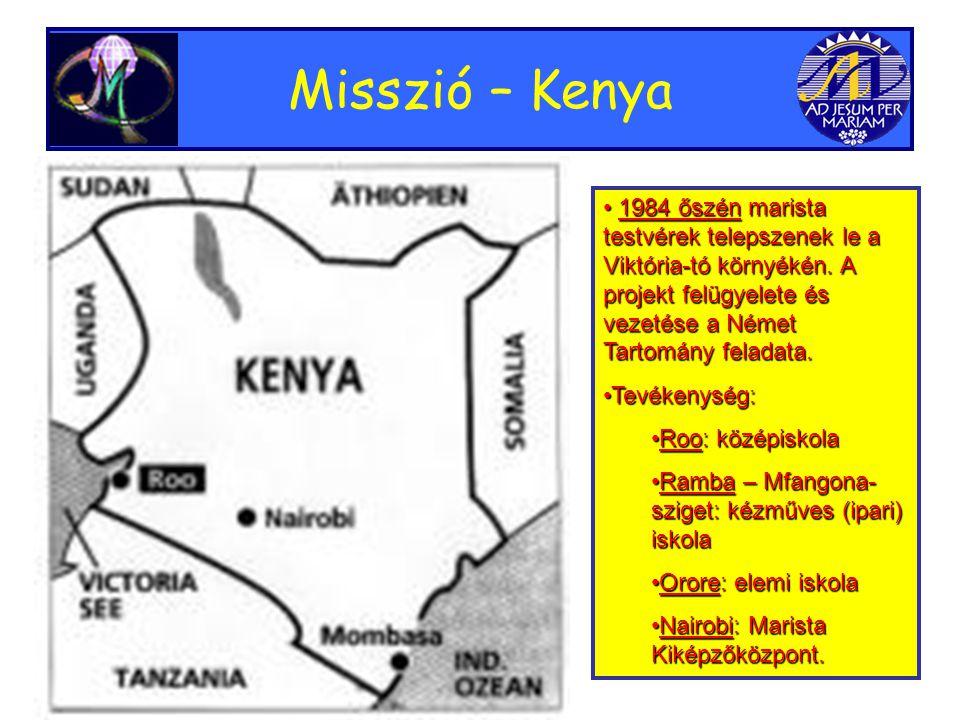 Misszió – Kenya • 1984 őszén marista testvérek telepszenek le a Viktória-tó környékén.
