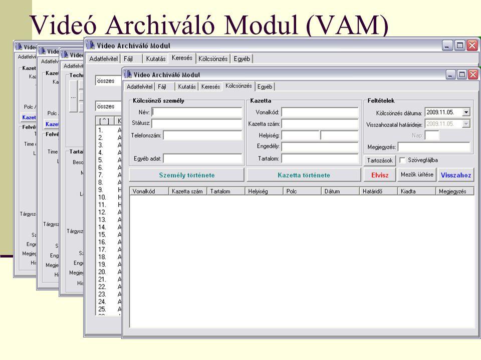 Videó Archiváló Modul (VAM)
