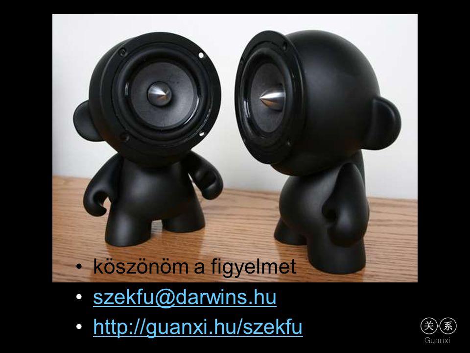Güanxi •köszönöm a figyelmet •szekfu@darwins.huszekfu@darwins.hu •http://guanxi.hu/szekfuhttp://guanxi.hu/szekfu