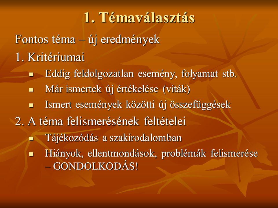 Bibliográfia – rövidítések 1.Gergely Jenő 2001: Gömbös Gyula.