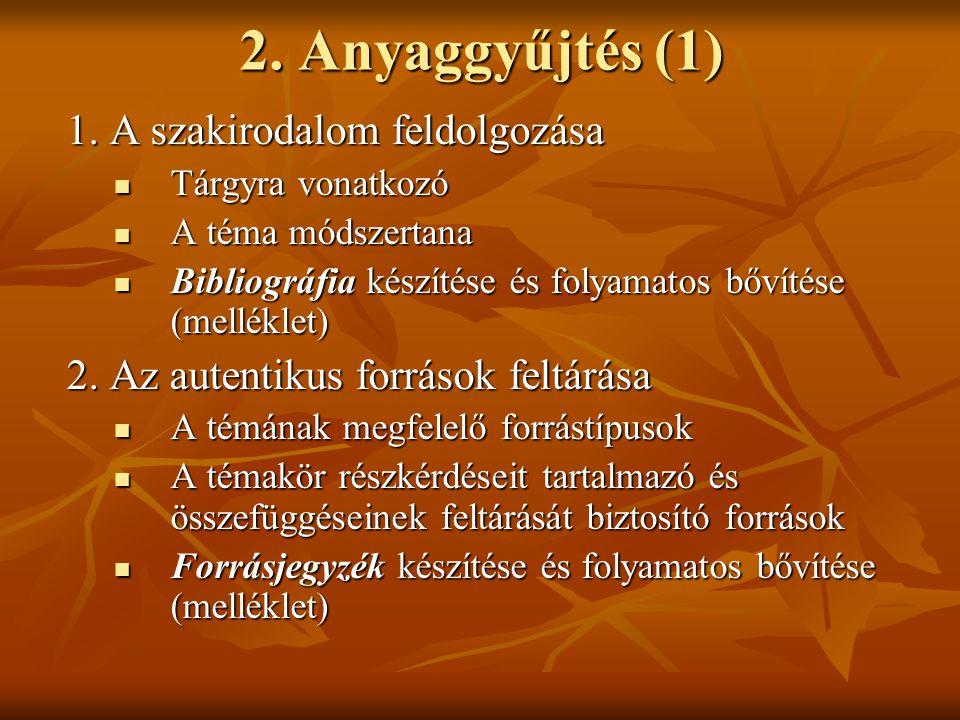 Feladat és követelmények (1) Egy dolgozat készítése az alábbi témakörök valamelyikében:  Volt-e zsidókérdés Magyarországon a 19-20.