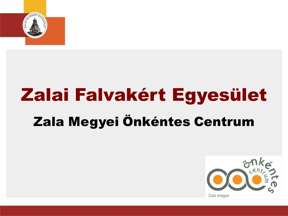 A Zalai Falvakért Egyesület tevékenységi területei • Terület- és vidékfejlesztés • Civil együttműködés, közösségfejlesztés • Falugondnokság • Esélyegyenlőség, foglalkoztatás • Önkéntes Központ 2006 óta • Hálózatok megye szerte Fotó: Németh Ferenc