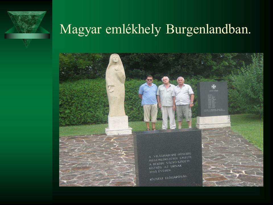 Magyar emlékhely Burgenlandban.