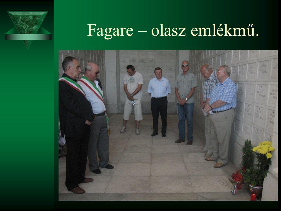 Fagare – olasz emlékmű.