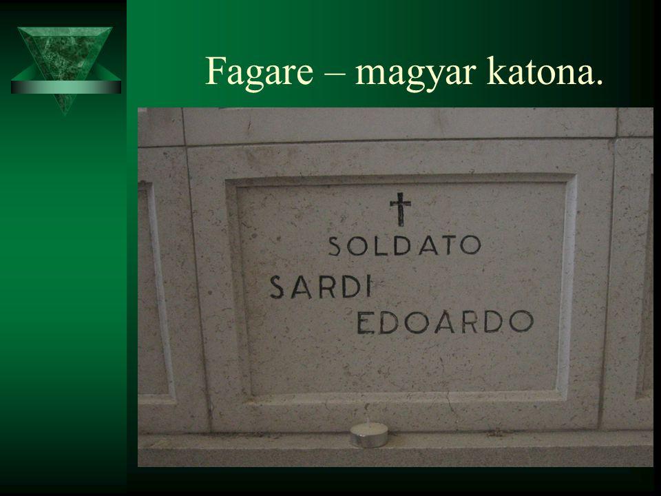 Fagare – magyar katona.