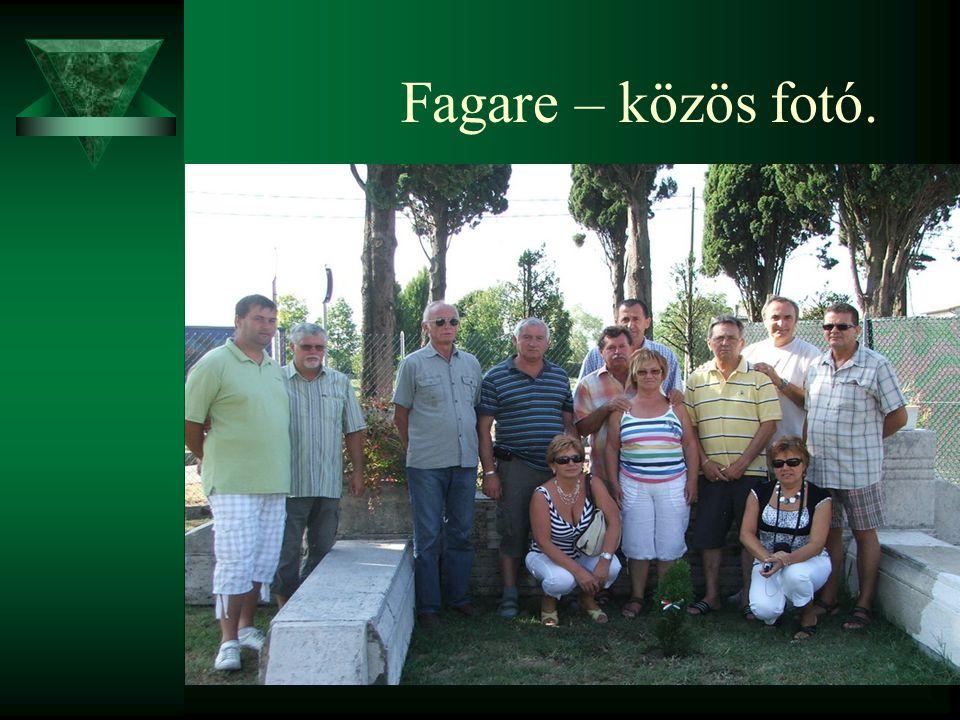 Fagare – közös fotó.