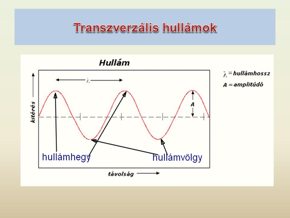 Transzverzális hullámok csak szilárd közegben illetve folyadékok határfelületén terjedhetnek.