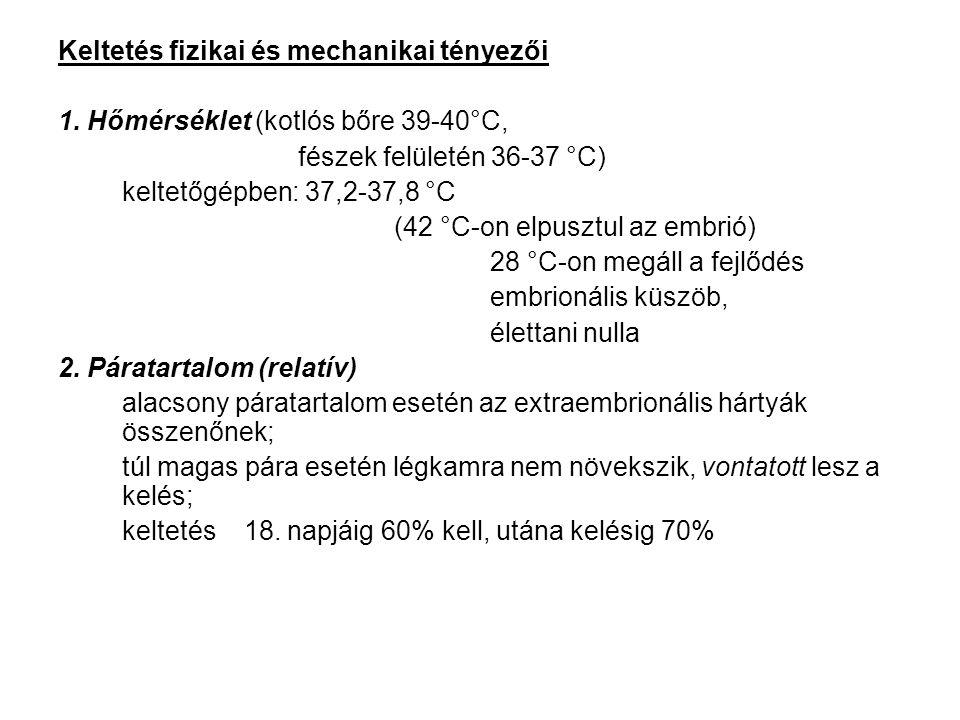 Keltetés fizikai és mechanikai tényezői 1.