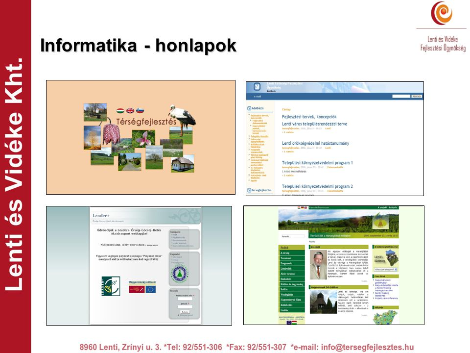 Informatika - honlapok