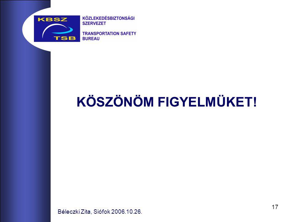 17 Béleczki Zita, Siófok 2006.10.26. KÖSZÖNÖM FIGYELMÜKET!