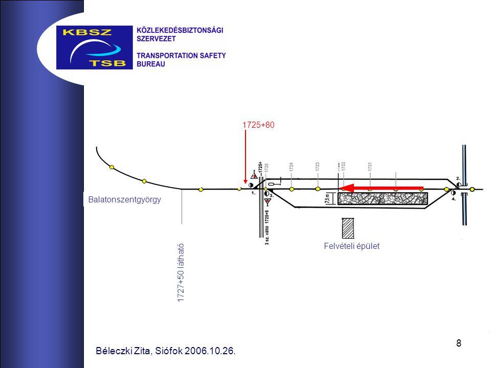 8 Béleczki Zita, Siófok 2006.10.26. Balatonszentgyörgy 1727+50 látható Felvételi épület 1725+80