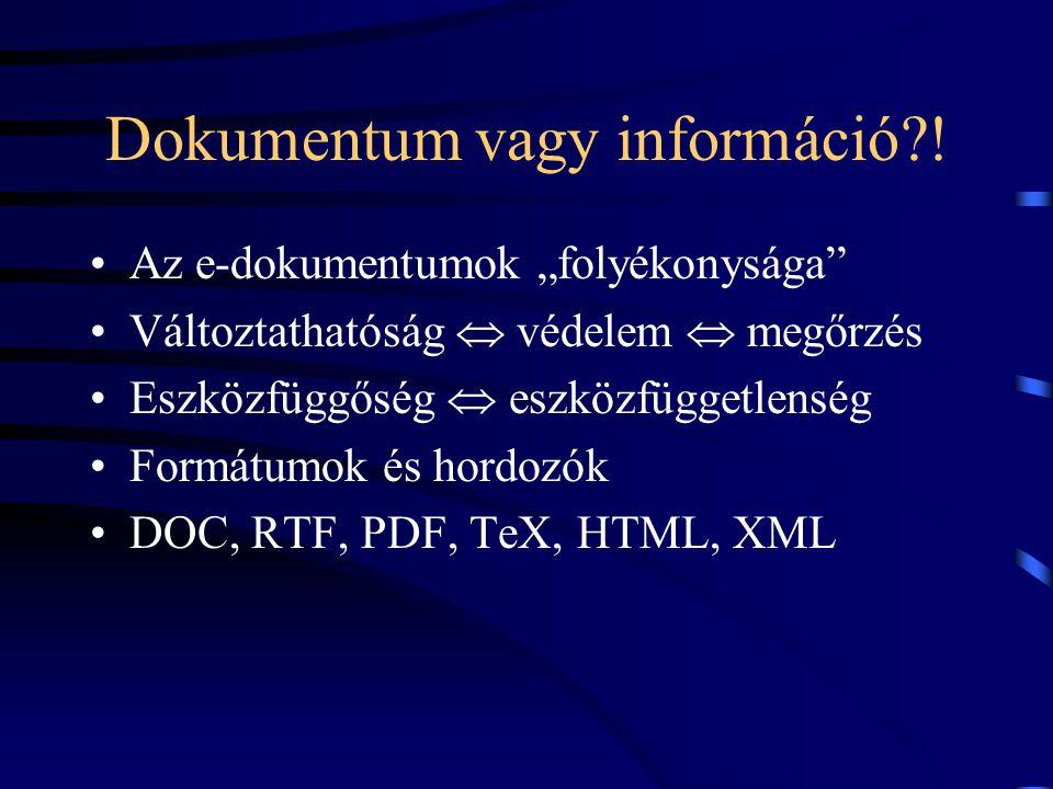 Dokumentum vagy információ .