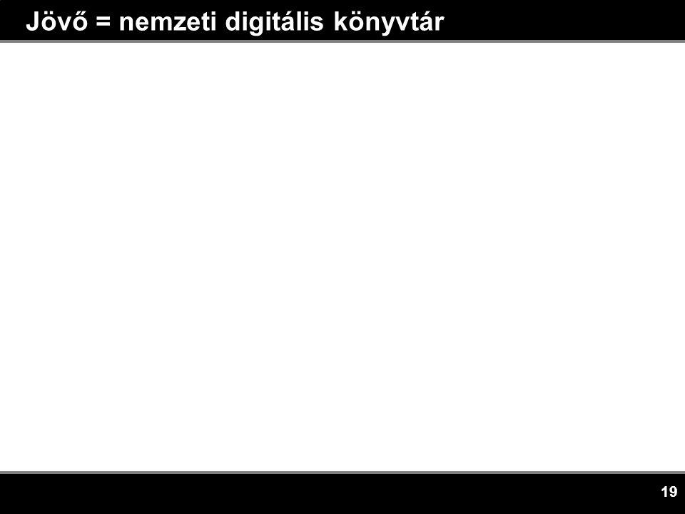 19 Jövő = nemzeti digitális könyvtár