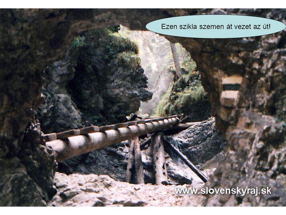 Ez a látszat ellenére nem barlang, Ennyire szűk és mély ezen a részen a völgy.