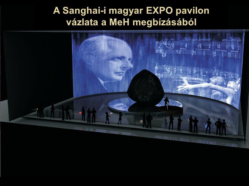 A Sanghai-i magyar EXPO pavilon vázlata a MeH megbízásából
