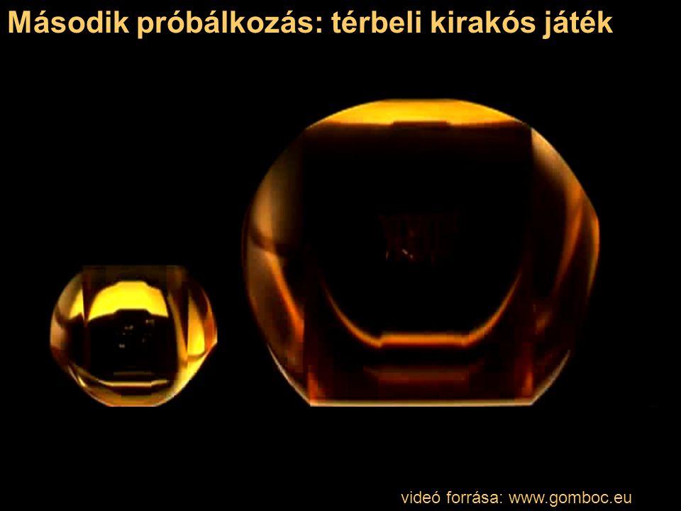 videó forrása: www.gomboc.eu Második próbálkozás: térbeli kirakós játék